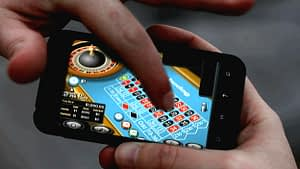 playing on phone