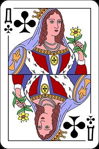 Q of clubs